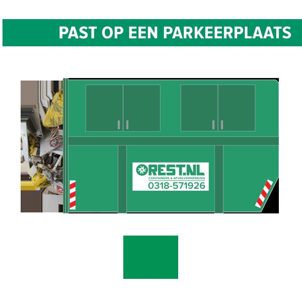 10m3 gesloten bouwafval container
