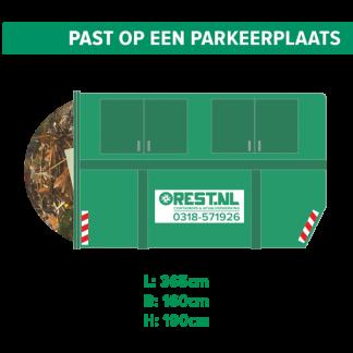 10m3 gesloten houtcontainer